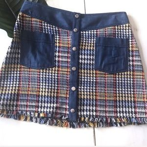Zara Basic Button Up Mini Skirt